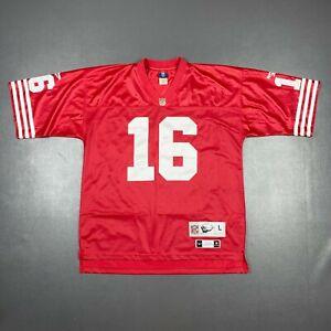 100% Authentic Joe Montana Reebok 1990 49ers Jersey Mens Size L 44