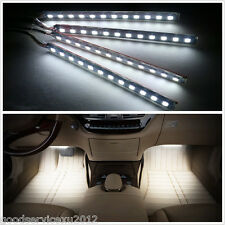 4 X 100% Waterproof White 12LED Chips Car Glow Atmosphere Lights Neon Decor Lamp