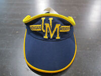 VINTAGE Michigan Wolverines Visor Hat Cap Blue Yellow College Football 90s
