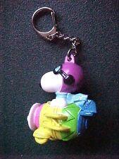 Miniature Peanuts Snoopy & Multi-colored Airplane Key Chain