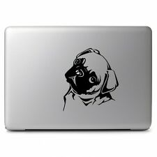 "Black Cute Pug Dog Decal Sticker Skin for Apple Macbook Air & Pro 11"" 13"" 15"" 17"