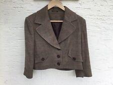 Littlewoods Herringbone Short Jacket by Mix. Brown. Size 14.