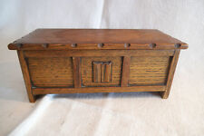 Charming Little Musical Box in The Form of An Oak Coffer / Chest- Reuge Movement