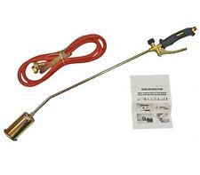 Long Arm Propane Butane Gas Torch Weed Burner Hose Regulator Roofers Plumber Kit
