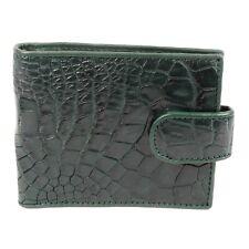 Real Green Alligator Crocodile Leather Belly skin Mens Bi-fold Closure Wallet