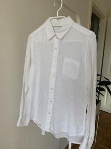 Muji Leinenhemd Damen Größe S weiß in tollem Zustand 100% Leinen
