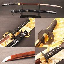 Red&Blade Japanese Samurai Swords Katana Folded Steel Battle Ready Sharp Blade