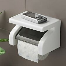 Wall Mounted Plastic Waterproof Toilet Roll Paper Box Holder Bathroom Tool YT