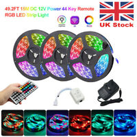 10-15M 3528 RGB Dimmable LED Strip Lights Back Lighting DC 12V Remote Controllor