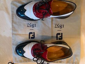 Footjoy 1857 Red, White, Blue golf shoes size 10