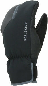 SealSkinz Extreme Cold Weather Cycle Split Finger Gloves | Black/Gray | 2XL