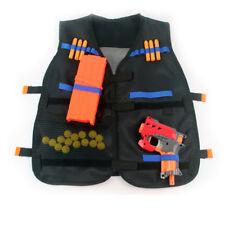 Water Nerf Tactical Vest Jacket N-Strike Elite Pistol Toy Bullets Holder Black K