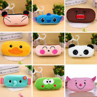 Portable Cartoon Pencil Case Soft Plush Makeup Cosmetic Storage Pouch Bag Zipper