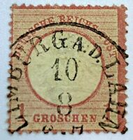 1872 GERMANY STAMP WITH LIMBURG AN DER LAHN SON CANCEL