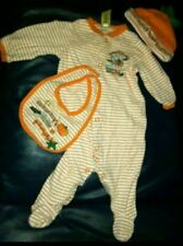 9 months Halloween one piece, hat and bib. Mummys little pumpkin one piece.