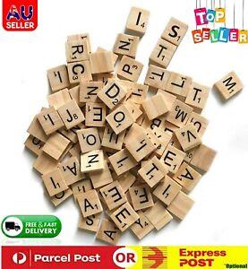 Wooden Alphabet Tiles Scrabble Replacement Letters for Board Games Wedding AU