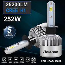 2X H1 252W 25200LM CREE LED Headlight Kit Light Bulbs single beam 6500K for KIA