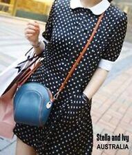 Polka Dot Short Sleeve Shirt Dresses for Women