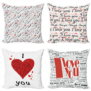 Ambesonne Feminine Throw Pillow Cushion Case Pack of 4 in 4 Sizes
