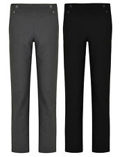 GIRLS SCHOOL TROUSERS EX UK STORE ADJUSTABLE WAIST 4 BUTTONS 3-16Y NEW