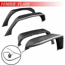 Fender Flares For 07-18 Jeep Wrangler 2/4 DOOR With LED Light Black Carbon Steel