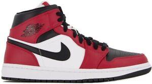 Air Jordan 1 Chicago Black Toe Bred Mid Retro Red White 554724-069 & 554725-069