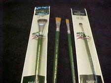 Donna Dewberry 5 One Stroke Brushes # 8 Flat12 Flat and 2 Scruffy Brushes