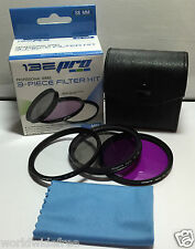 52mm 3-Piece Pro Filter Kit - Professional Series UV/CPL/FLD with Case & Cl
