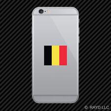 Belgian Flag Cell Phone Sticker Mobile Belgium BEL BE