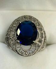 3 CT. Sapphire Ring 925 Silver