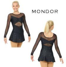 MONDOR Black Glitter Mesh Figure Skating Competition Dress Child & Adult Sizes