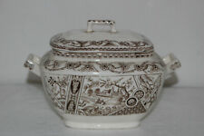 Antique T&R Boote Yosemite Transferware Sauce/Gravy Boat/Bowl With Lid