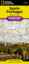 Spain & Portugal Adventure Travel Map National Geographic Waterproof