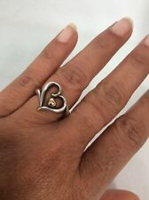 Pretty James avery  sterling Silver  925 14K Dot heart ring size 8