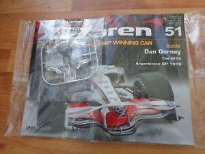 ISSUE 51 DEAGOSTINI 1/8 BUILD YOUR OWN MCLAREN MP4/23 LEWIS HAMILTON 2008 F1 CAR