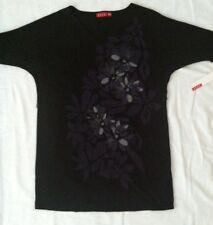 ELLE Rock Couture Boho Hippie Gypsy Black Dress Sz S NWT #S4