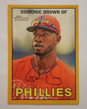 2016 Topps Heritage Baseball 5x7 Gold 5/10 424 Dominic Brown Phillies