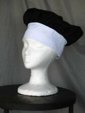 Two Black & White Kids Chef Hats Set of 2