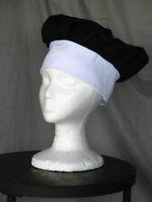 Two Black & White Kids Chef Hats Set of 2