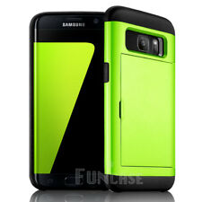For Samsung Galaxy S7 edge Wallet Card Pocket Rugged Silicone Slim Case Cover