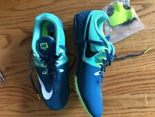 Nike Rival S Racing Sprint Teal Aqua W Cleats and Tool Sz 91/2 Nwob