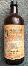 Vintage Horse Liniment 12 Oz Veterinary Medicine Bottle