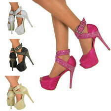 Stiletto Party Patternless Heels for Women