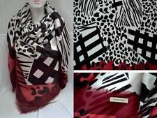 Burberry XXL bufanda de lujo pañuelo scarf Carré платок 68% cachemira seda NP 399 € nuevo