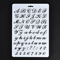 2X(Lettering Stencils,Letter and Number Stencil,Painting Paper Craft AlphabP6C6)