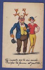 "i* Carte postale CPA Humoristique ""Qu'importe que tu sois moche... Puisque.."""