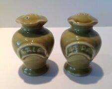 #40537 Southern Living TOSCANA Salt Pepper Shakers Green Italy
