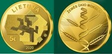Lithuania 5 EURO gold coin 2020 Agricultural Sciences  mintage 2500 RARE