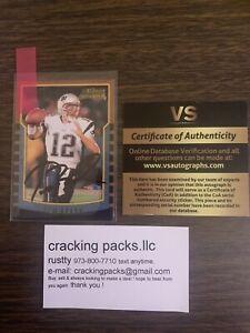 Tom Brady Autograph With C.O.A On Bowman  Rp Rookie Card 🔥hot Item 🔥
