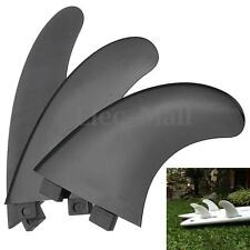 3pcs/Set Outdoor Surfboard Fins For FCS Compatible G5 Template Surf Fin Black